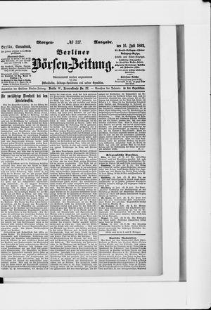 Berliner Börsen-Zeitung vom 16.07.1892