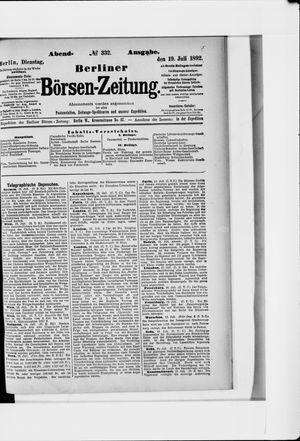 Berliner Börsen-Zeitung vom 19.07.1892