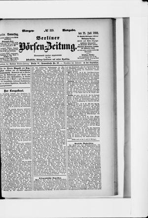 Berliner Börsen-Zeitung vom 21.07.1892