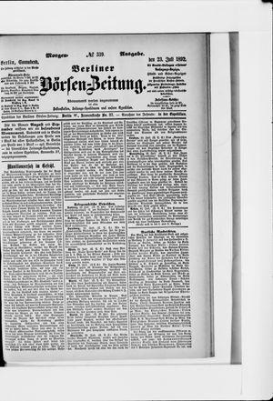 Berliner Börsen-Zeitung vom 23.07.1892