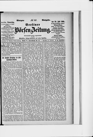 Berliner Börsen-Zeitung vom 28.07.1892