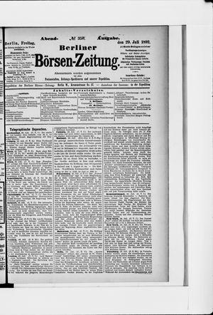 Berliner Börsen-Zeitung vom 29.07.1892