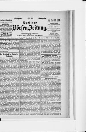 Berliner Börsen-Zeitung vom 30.07.1892