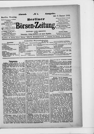 Berliner Börsen-Zeitung vom 03.01.1893