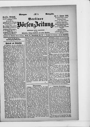 Berliner Börsen-Zeitung vom 04.01.1893