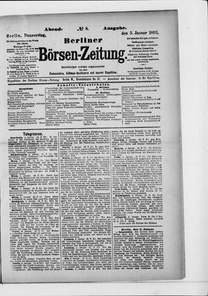 Berliner Börsen-Zeitung vom 05.01.1893