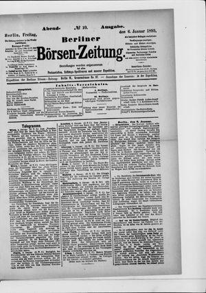 Berliner Börsen-Zeitung vom 06.01.1893