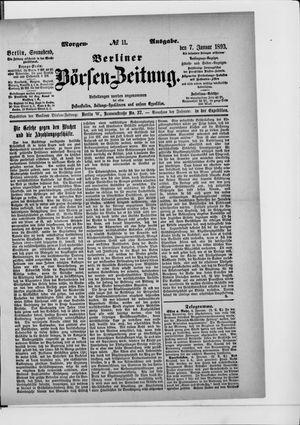 Berliner Börsen-Zeitung on Jan 7, 1893