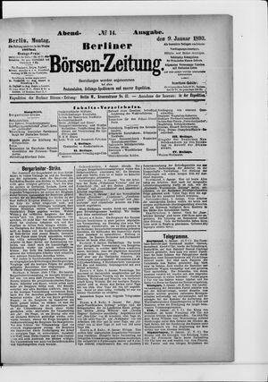 Berliner Börsen-Zeitung vom 09.01.1893