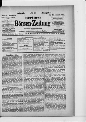 Berliner Börsen-Zeitung vom 11.01.1893