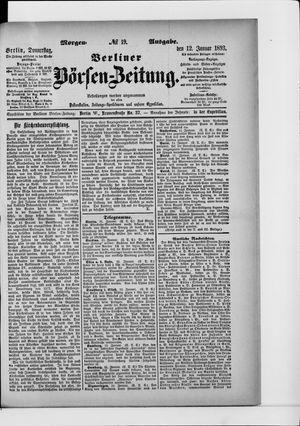 Berliner Börsen-Zeitung vom 12.01.1893