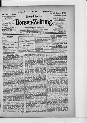 Berliner Börsen-Zeitung vom 13.01.1893