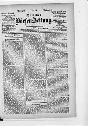 Berliner Börsen-Zeitung vom 18.01.1893