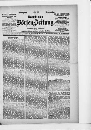 Berliner Börsen-Zeitung vom 21.01.1893