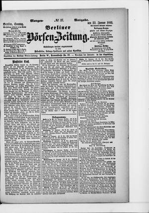 Berliner Börsen-Zeitung vom 22.01.1893