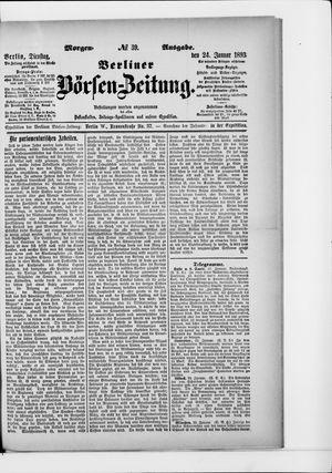 Berliner Börsen-Zeitung vom 24.01.1893