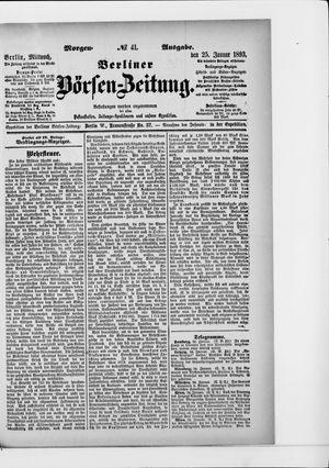 Berliner Börsen-Zeitung vom 25.01.1893