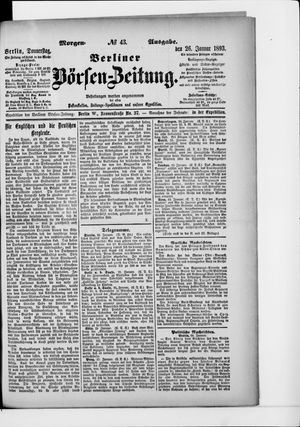 Berliner Börsen-Zeitung vom 26.01.1893