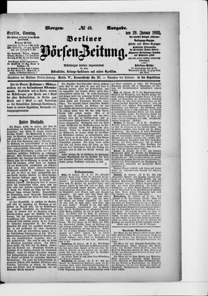 Berliner Börsen-Zeitung vom 29.01.1893
