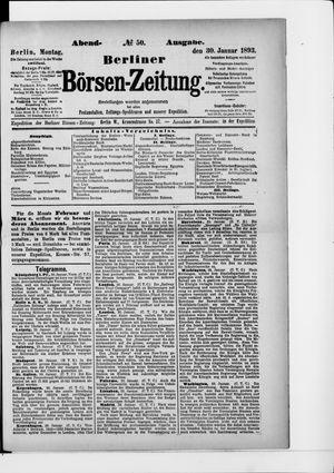 Berliner Börsen-Zeitung vom 30.01.1893