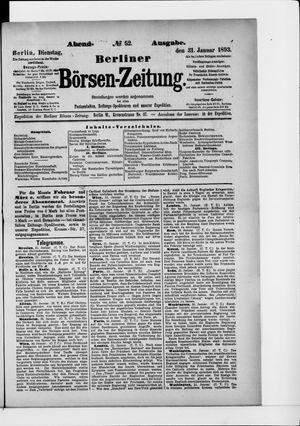 Berliner Börsen-Zeitung vom 31.01.1893