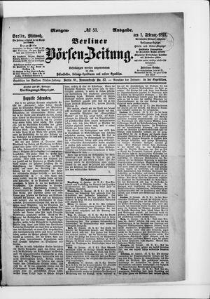 Berliner Börsen-Zeitung on Feb 1, 1893