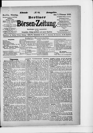 Berliner Börsen-Zeitung vom 07.02.1893