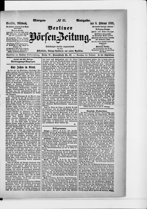 Berliner Börsen-Zeitung vom 08.02.1893