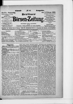 Berliner Börsen-Zeitung vom 09.02.1893