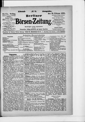 Berliner Börsen-Zeitung vom 10.02.1893