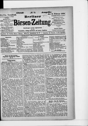 Berliner Börsen-Zeitung vom 11.02.1893