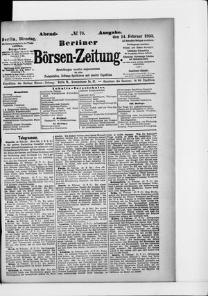 Berliner Börsen-Zeitung vom 14.02.1893