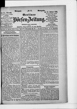Berliner Börsen-Zeitung vom 15.02.1893