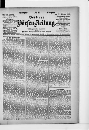 Berliner Börsen-Zeitung vom 17.02.1893