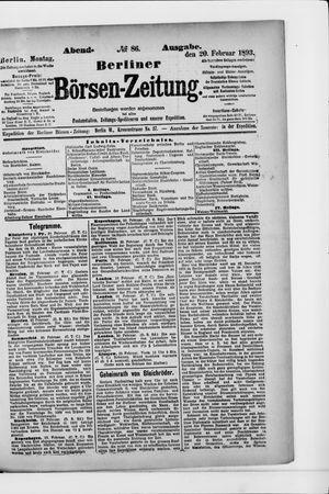 Berliner Börsen-Zeitung vom 20.02.1893