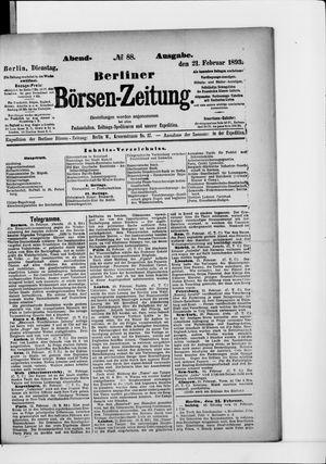 Berliner Börsen-Zeitung vom 21.02.1893