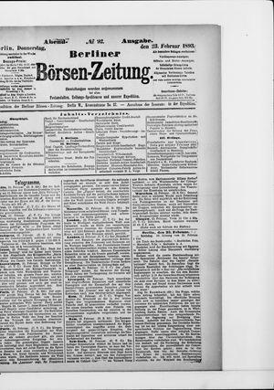 Berliner Börsen-Zeitung vom 23.02.1893