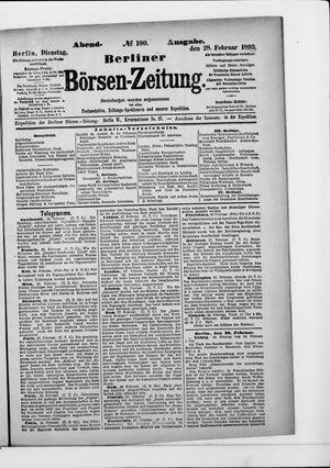 Berliner Börsen-Zeitung vom 28.02.1893