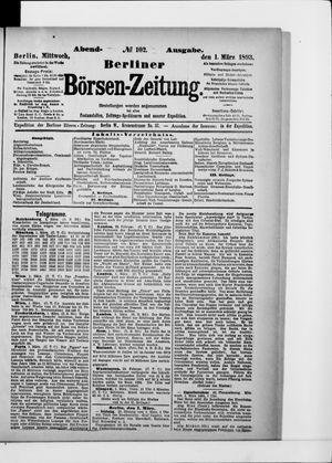 Berliner Börsen-Zeitung vom 01.03.1893
