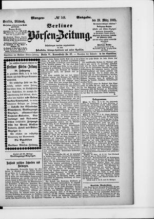 Berliner Börsen-Zeitung vom 29.03.1893