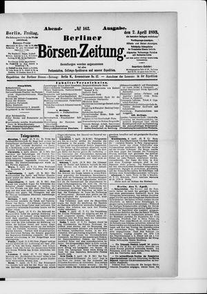 Berliner Börsen-Zeitung vom 07.04.1893