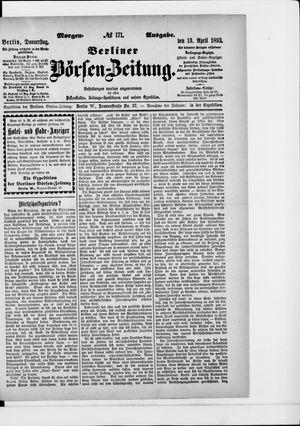 Berliner Börsen-Zeitung vom 13.04.1893