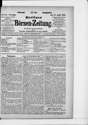 Berliner Börsen-Zeitung vom 18.04.1893