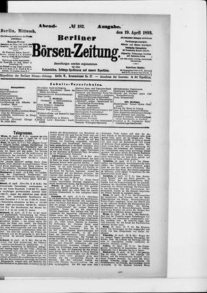Berliner Börsen-Zeitung vom 19.04.1893