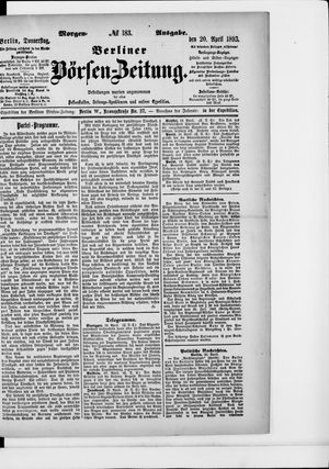Berliner Börsen-Zeitung vom 20.04.1893