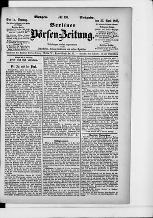 Berliner Börsen-Zeitung on Apr 23, 1893