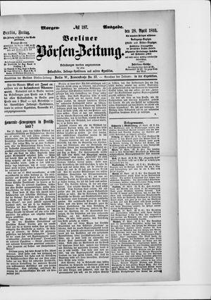 Berliner Börsen-Zeitung vom 28.04.1893