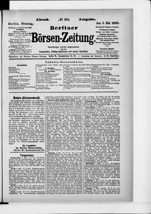Berliner Börsen-Zeitung vom 02.05.1893