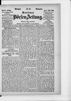 Berliner Börsen-Zeitung on May 5, 1893