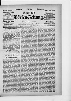 Berliner Börsen-Zeitung on May 7, 1893